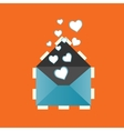 Icon love heart letter eps vector image
