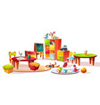 kindergarten interior furniture vector image vector image