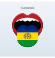 KwaNdebele language Abstract human tongue vector image vector image