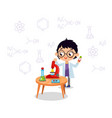 little scientist school chemical laboratory vector image