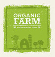 organic farm fresh healthy food eco green vector image vector image