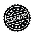 pain free stamp in german vector image vector image