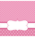 Pink invitation card with polka dots vector image vector image