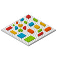 plastic colorful constructor blocks and bricks vector image vector image