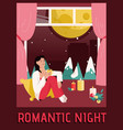 poster romantic night concept vector image vector image