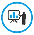 Presentation Flat Icon vector image vector image