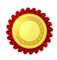 Red and gold rosette vector image vector image
