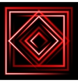 Red neon square background vector image