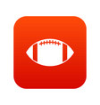 rugby ball icon digital red vector image vector image