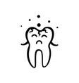 sad tooth icon vector image vector image
