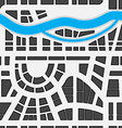 Seamless background of city map vector image vector image