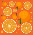 seamless background pattern with fresh oranges vector image vector image