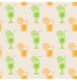 seamless background with glasses of juice vector image vector image