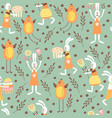 seamless pattern on the theme of the vector image vector image