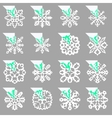 Set of stencil ornaments for hand made snowflake vector image
