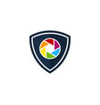 shield camera logo icon design vector image