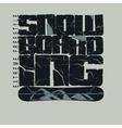 Snowboarding winter sport emblem T-shirt vector image