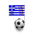 Soccer Balls or Footballs with flag of Greece vector image vector image