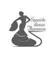 spanish dance flamenco logotype vector image