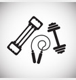 sport inventory acessories on white background vector image