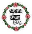 spring season print design for tshirt vector image vector image