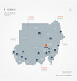 sudan infographic map vector image