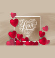 symbol of love on sweet background vector image vector image