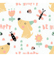 tender dog pattern vector image vector image