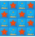 tile pattern with sea and starfish vector image vector image