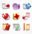 versatile gift boxes set vector image vector image