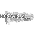 what you need to know about norovirus text word vector image vector image