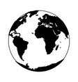 World earth cartoon isolated in black and white