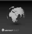 world globe template for your infographics reports vector image vector image