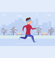 young man in sportswear jogging or running in vector image