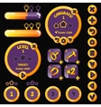 Golden stylish game interface woth level vector image