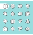 3D Fat Line Icons vector image vector image