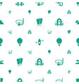 adventure icons pattern seamless white background vector image vector image