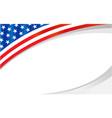 american flag symbol wave pattern frame banner vector image vector image