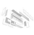 architect 3d drawing of balcony vector image