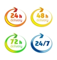 around clock delivery icons vector image vector image