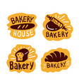bakery house shop logo food vector image