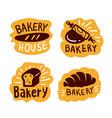 bakery house shop logo food vector image vector image