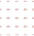 baseball cap icon pattern seamless white vector image vector image