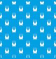 big sports bra pattern seamless blue vector image vector image