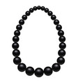 black pearls mockup realistic style vector image