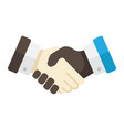 business handshake flat icon contract agreement vector image