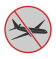 canceled flight icon stop covid19 sign vector image vector image