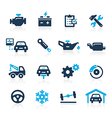 Car Service Icons Azure Series vector image vector image