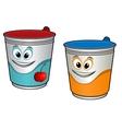Cartoon cherry yoghurt vector image vector image