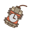 cartoon dynamite sticks mining clock vector image